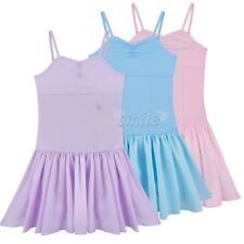 Girls Kids Ballet Dress Leotard Gymnastics Tutu Skirt Dance wear Costume 2-12Y