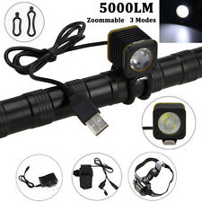5000LM Rechargeable Bike Bicycle 3xXML Cree T6 LED Head Light Headlamp Headlight