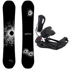 System DNR with MTN Rear Entry Snowboard Bindings Men's Snowboard Package