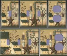Country Kitchen Shaker House and Stars Wall Decor Light Switch Plate Cover
