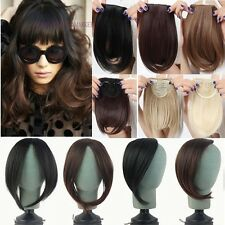 Us Real Thick Straight Bang Clip in on Fringe Hair Extensions Human Hairpiece gn