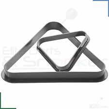 Peradon Snooker Pool Table Black Plastic Moulded Triangle for 10 or 15 Balls