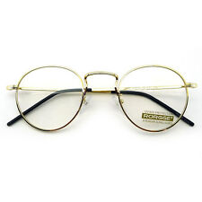 Vintage Retro Inspired Round Glasses Classic Eyeglasses Clear Lens Eyewear