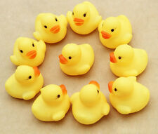 One Dozen Squeezing Rubber Duck Ducky Duckie Baby Shower Birthday Favors Toy Lot