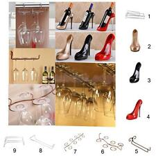 Wine Glass Rack Cup Stemware Holder Shelf High Heel Wine Bottle Champagne Holder