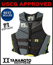 Mens PFD Vest Body Glove Phantom Wakeboarding Wake Board Vest Ski - USCGA