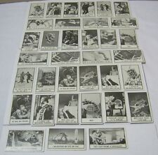 Topps Monster Laffs Trading Cards 1960's Vintage Lot of 35   T*