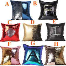 HOT Double Color Glitter Sequins Throw Pillow Case Cafe Home Decor Cushion Cover