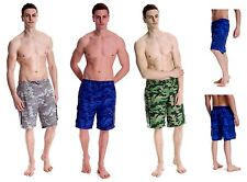 Mens Camo Swim Shorts with Mesh Lining and Elasticated Waist