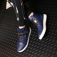 Hot Fashion Mens Shoes Leather Shoes Casual High Top Shoes Athletic Sneakers S