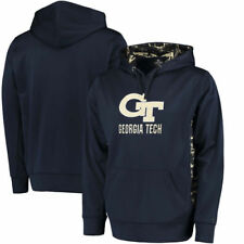 Georgia Tech Yellow Jackets Colosseum Oil Slick Pullover Hoodie - Navy - NCAA