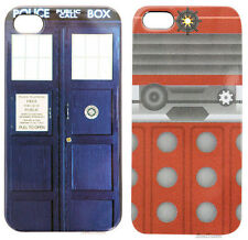 BBC Dr Doctor Who Cell Phone Case Dalek Tardis Phone Booth FITS IPhone 4/4S NEW