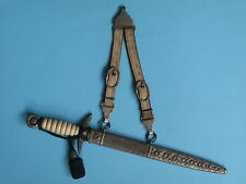 CROATIA NDH Air Force PILOT OFFICER DRESS DAGGER with hangers and portepee