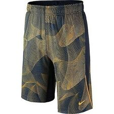 """NIKE Boys Dri-FIT """"LEGACY ALL OVER"""" Training Shorts ** VOLT/NAVY - S ** NWT"""
