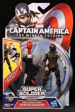"2014 HASBRO MARVEL CAPTAIN AMERICA 4"" PRECISION STRIKE WINTER SOLDIER MOC"