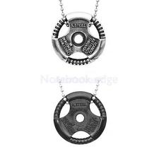 Fashion Stainless Steel Steering Wheel Chain Round Pendant Necklace Mens Jewelry