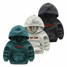 Toddler Baby Boys outerwear Hooded coats letter Jacket Kids Boys Clothes