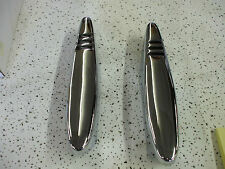 1938-39 Chevy pr ORIG bumper guards NEWLY [triple] PLATED L@@@@@@K