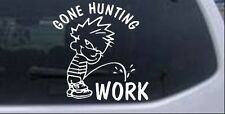 Gone Hunting Car or Truck Window Laptop Decal Sticker Pee On 6X6