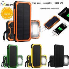 Portable Solar Power Bank 10000mah External Battery Charger for iPhone Samsung