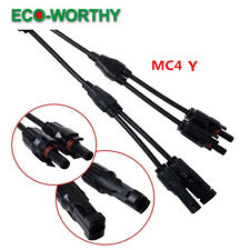 MC4 Solar Panel Cable Connector Y Type Male Female MM/F FF/M Cable Wire Branch