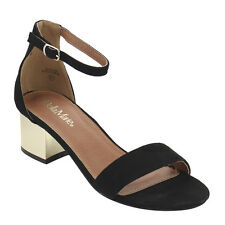 BELLA MARIE IC12 Women's Single Band Ankle Strap Block Heel Sandal New In Box