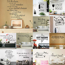 Home PVC Removable DIY Letter Pattern Wall Decoration Art Sticker Decal