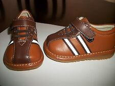 Baby Toddler Boys Light brown Squeaky shoes Sneakers with removable squeaker