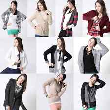 WSM Fashion Womens Long Sleeve Cardigan Sweater Loose Pullover Knit Outwear Tops