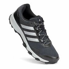 NIB MENS ADIDAS DURAMO 7 TRAIL RUNNING SHOES BLACK/GREY NEW SIZE 9, 9.5, 10,10.5