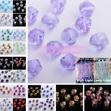 Wholesale 10/50 Pcs 10mm Twist Beads Faceted Glass Crystal Loose Spacer Beads