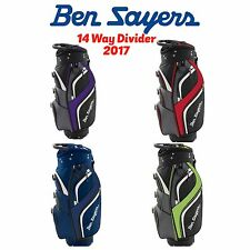 """BEN SAYERS DELUXE CART TROLLEY BAG 14 WAY DIVIDER GOLF TROLLEY BAG """"NEW 2017"""""""