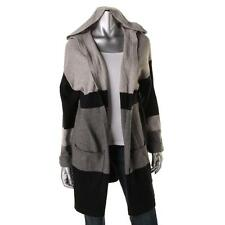 Vince Camuto 8195 Womens Hooded Open Front Striped Cardigan Sweater BHFO