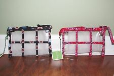 Vera Bradley FRANKLY SCARLET or NIGHT OWL Clear Transparent Travel Pouch - NWT
