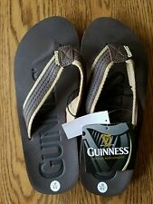 Guinness Sandals Flip Flops Men's Brown Size Medium 8/9 New with Tags