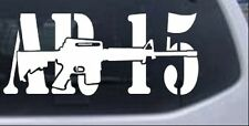 AR 15 Military Rifle With Text Car or Truck Window Laptop Decal Sticker 8X3.5