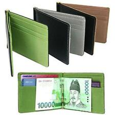 Fashion Mens Faux Leather Money Clip Slim Wallets Purse ID Credit Card Holder S