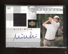 Mike Weir 2002 UD Silver Fairway Fabrics Auto/Shirt Card !!!!!!!!!!!!!
