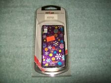 Motorola Droid A855 Purple Snap-On Glossy Hard Case Cover with Dots & Snowflakes