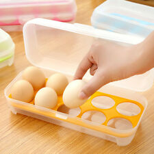1X Lucid Plastic Refrigerator Egg Storage Box Case Eggs Holder Storage Container