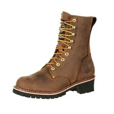 Georgia Work Boots Mens ST Waterproof Logger Insulated Brown GB00065