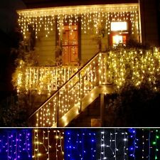 220V EU Plug Curtain Icicle String Lights New Year Christmas LED Lights Party