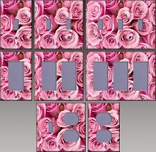 Special Pink Roses Wall Decor Light Switch Plate Cover