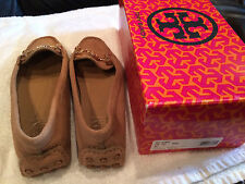 NEW TORY BURCH WOMEN $275 DARIA DRIVER SUEDE MOCCASIN LOAFERS/SHOES-7 WALNUT