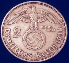 SILVER Ww2 COIN Third Reich NAZI Hitler Military Second War Vintage Lot Old Gold