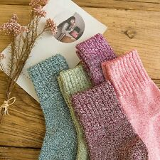 5 Pairs Girl Womens Wool Thick Warm Socks Winter Soft Warm Fashion Crochet Knit