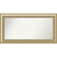 Wall Mirror Choose Your Custom Size - Extra Large, Astoria Champagne Wood