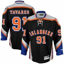 #91 John Tavares New York Islanders Reebok Premier Player Jersey - Black - NHL