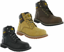 CAT Caterpillar Electric Safety Steel Toe Leather Suede Mens Work Boots UK6-12