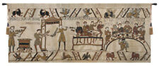 Bayeux Banquet II Belgian Woven Cotton Tapestry Wall Hanging